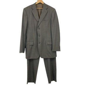 Ermenegildo Zegna Wool Suit Two Piece Brown 52L